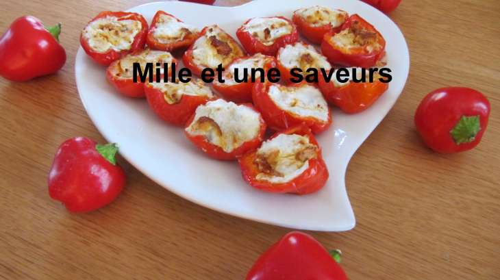 mini poivrons farcis au fromage de ch vre et chorizo recette par jolivet. Black Bedroom Furniture Sets. Home Design Ideas