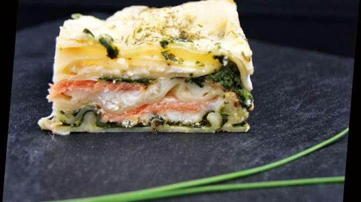 lasagne saumon fum pinards et ch vre recette par tchoup 39 cooking. Black Bedroom Furniture Sets. Home Design Ideas