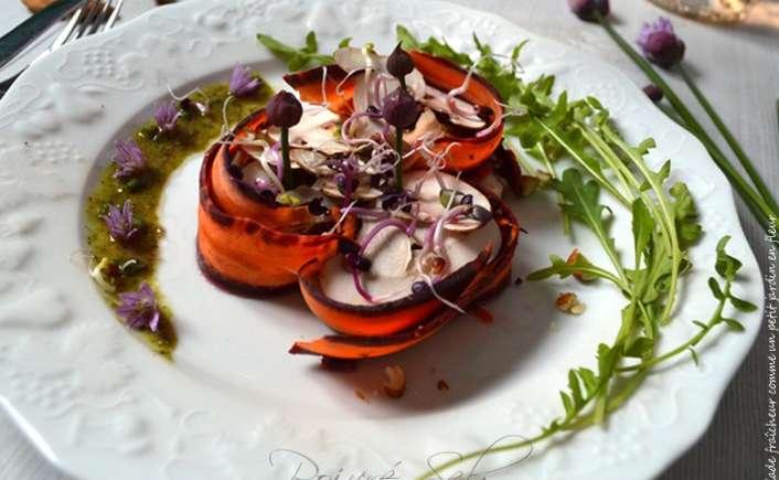 Salade fraîcheur comme un petit jardin en fleur - Poivré Seb