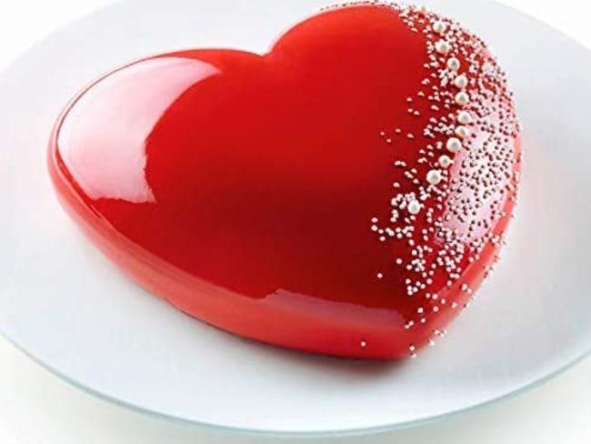 Le moule coeur silicone