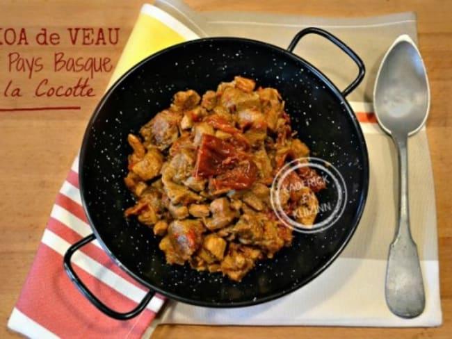 Axoa ragoût de veau du pays basque en cocotte