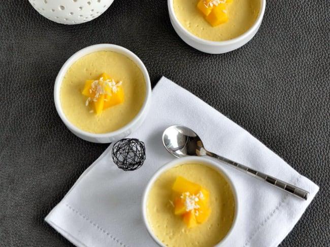 Petits pots de crème à la mangue