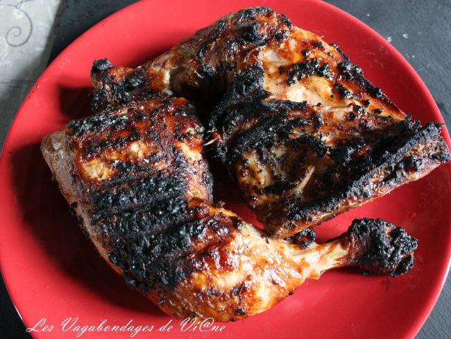 Cuisses de poulets marinées au barbecue