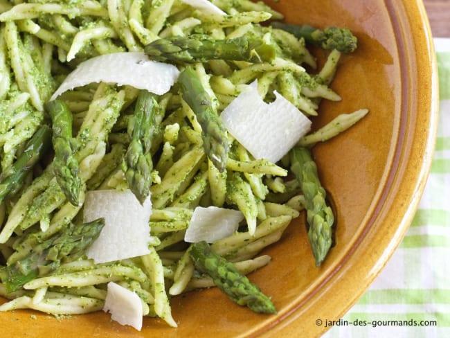 Pâtes au Pesto d'Asperges vertes