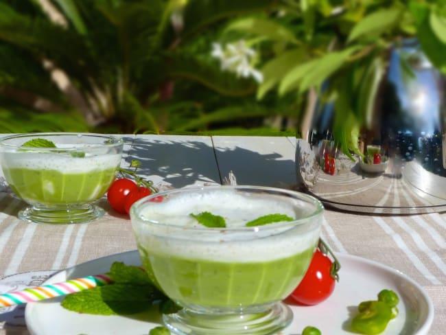 Cappuccino aux légumes printaniers