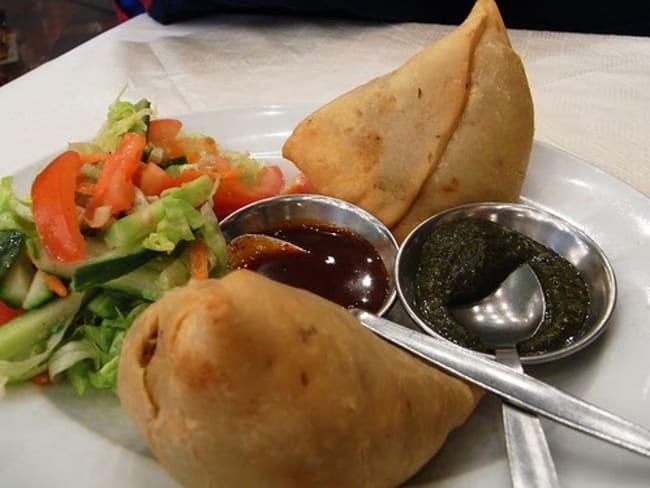 Samoussa au poulet, épices indiennes