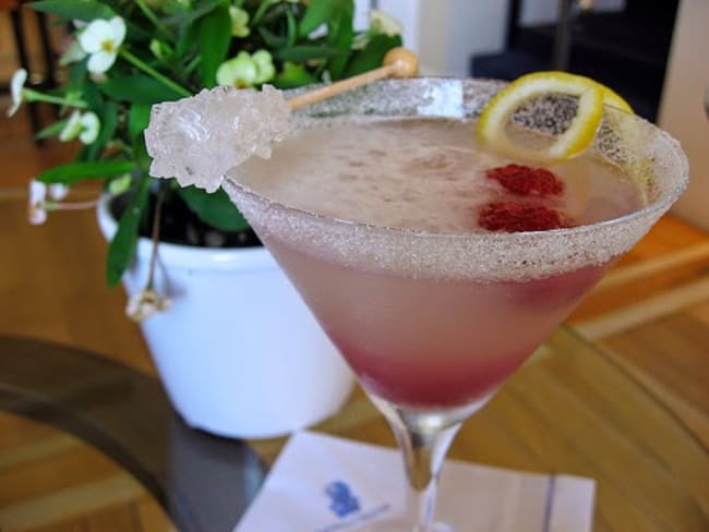 Cocktail aux framboises et gingembre - spécial independence day