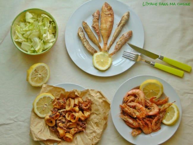 Friture de poissons assortis