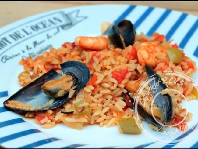 Riz aux fruits de mer à la portugaise