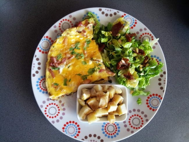 Omelette onctueuse garnie