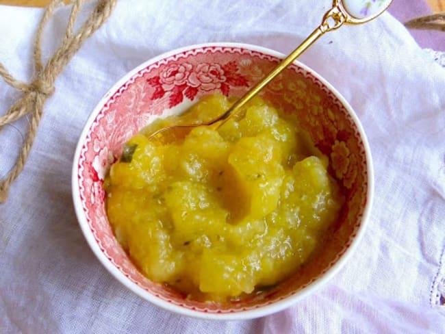Compote de pommes et courgettes