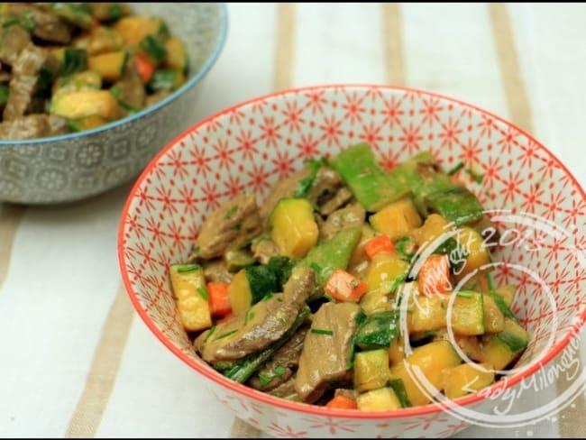 Wok de bœuf aux légumes