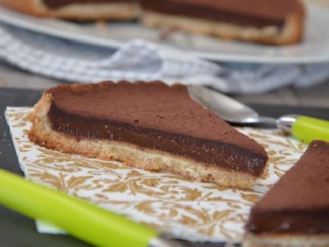 Tarte au chocolat noisette