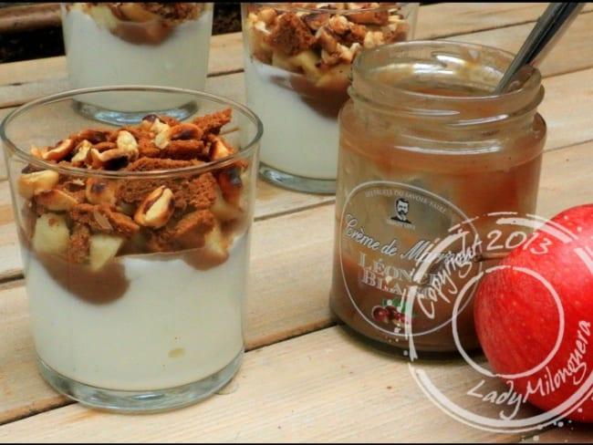Verrines d'automne pomme et crème de marron