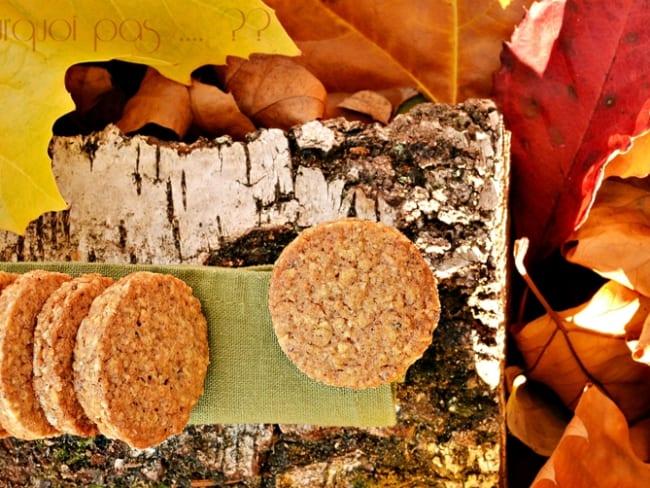 Biscuits flocons d'avoine noisette et épices