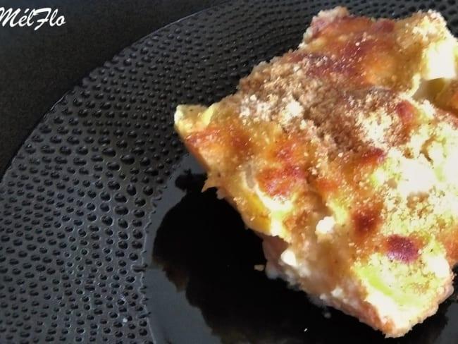 Gratin de chou-fleur, pommes de terre à la sauce béchamelle