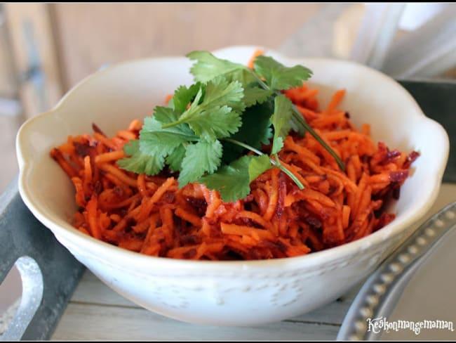 Duo de carottes sauce miel citron et coriandre