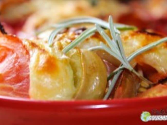 Cassolettes de potimarron, tomate et dinde à la lavande