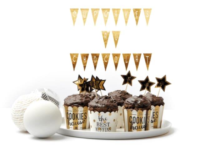 Cupcakes au chocolat super moelleux sans gluten et sans lactose