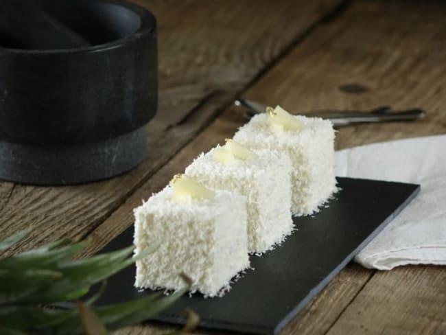 Le cube coco, vanille et fruits exotiques