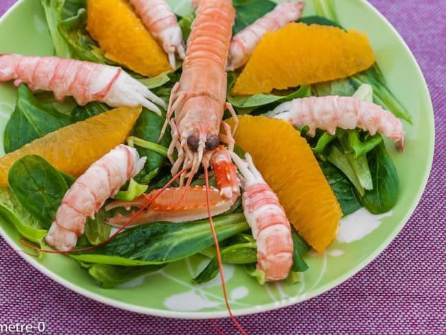 Salade de langoustines aux oranges