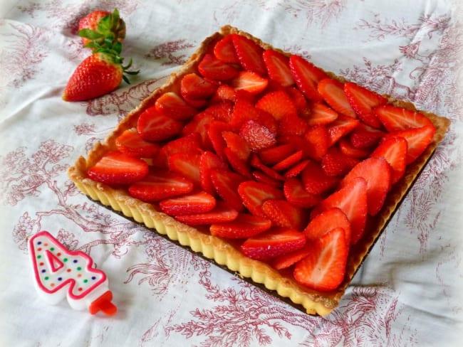 Tarte au fruit de la passion et fraises