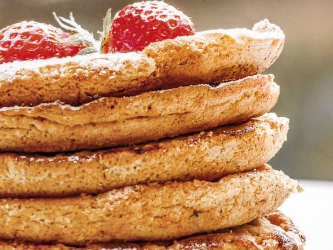 Pancakes vegan avoine, amandes et huile essentielle d'ylang-ylang