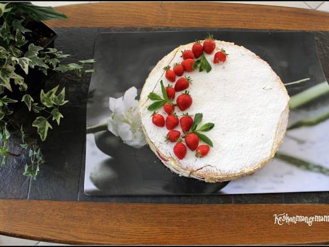 Millefeuille aux fraises
