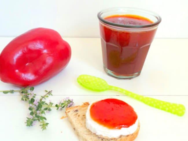 Confiture de poivrons rouges au thym