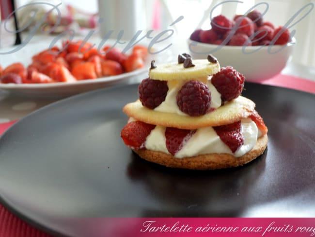 Tartelette aérienne aux fruits rouges
