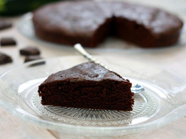 Gâteau au chocolat à la courgette sans beurre
