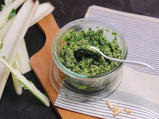 Pesto de blettes à l'huile de noix
