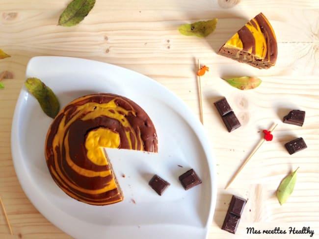 Marbré fondant au chocolat et courge butternut
