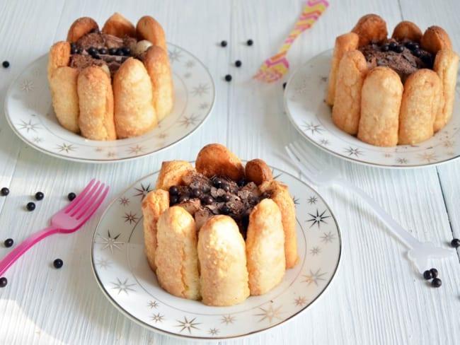 Mini charlottes poire chocolat