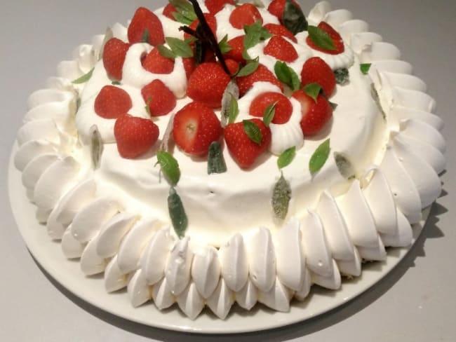 Vacherin glacé fraise-verveine