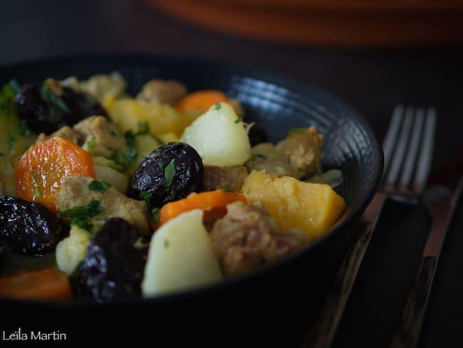 Tajine d'agneau aux légumes d'hiver
