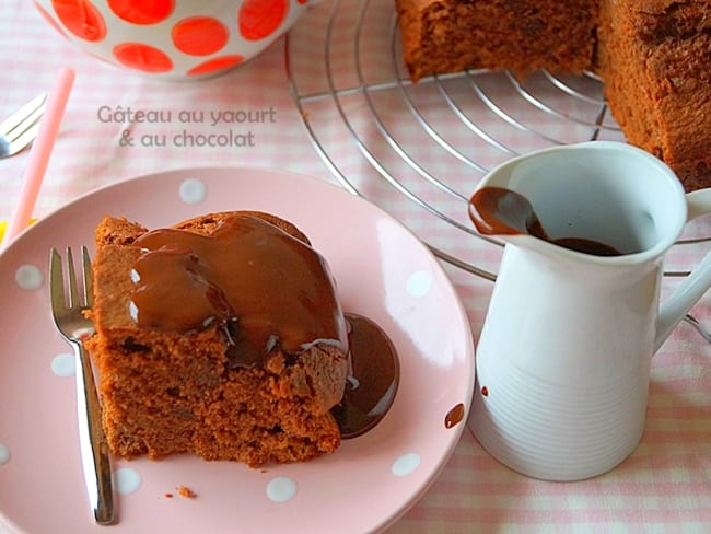 Gâteau au yaourt & chocolat ultra moelleux