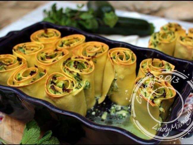 Wraps de lasagnes aux courgettes