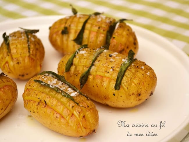 Pommes de terre hérissons à la sauge et fleur de sel