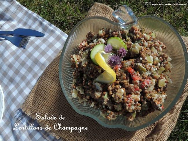 Salade de lentilles de champagne