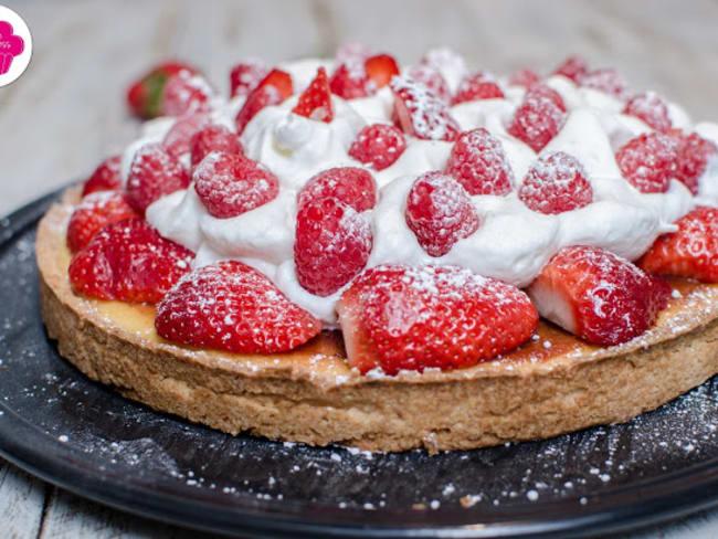 Tarte amandine aux fraises