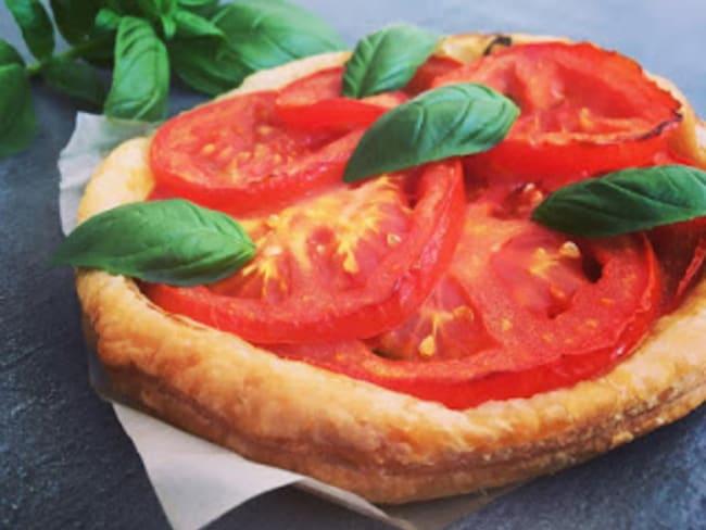 Tarte tomate, moutarde et basilic de Christophe Felder