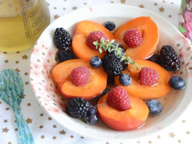 Salade d'abricots à la verveine