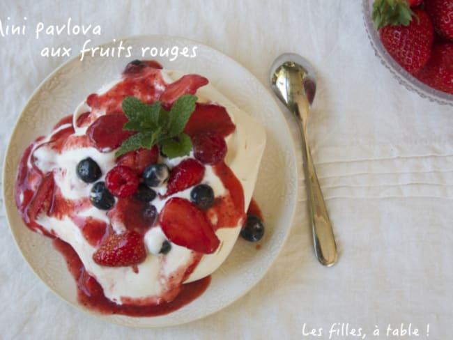 Mini pavlova aux fruits rouges
