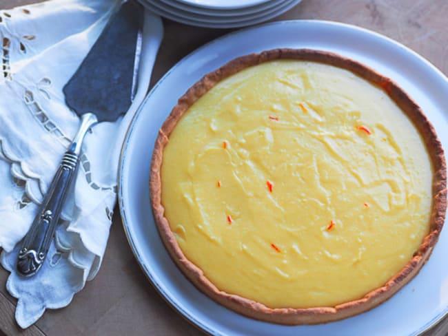 Tarte au citron et au safran
