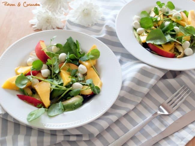 Salade de mangue, nectarine et avocat