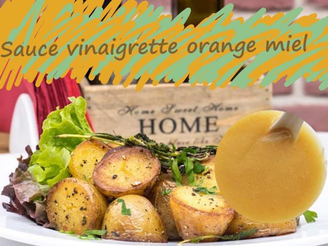 Sauce vinaigrette à l'orange et au miel