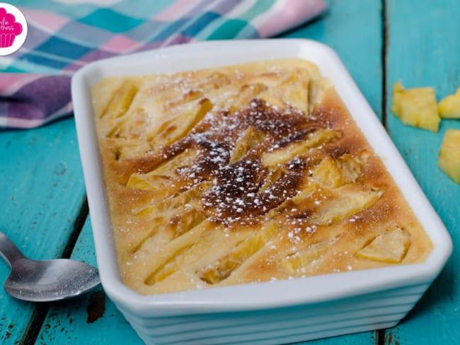 Clafoutis à l'ananas caramélisé