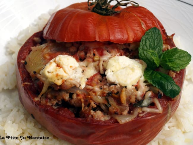 Tomates farcies agneau menthe feta