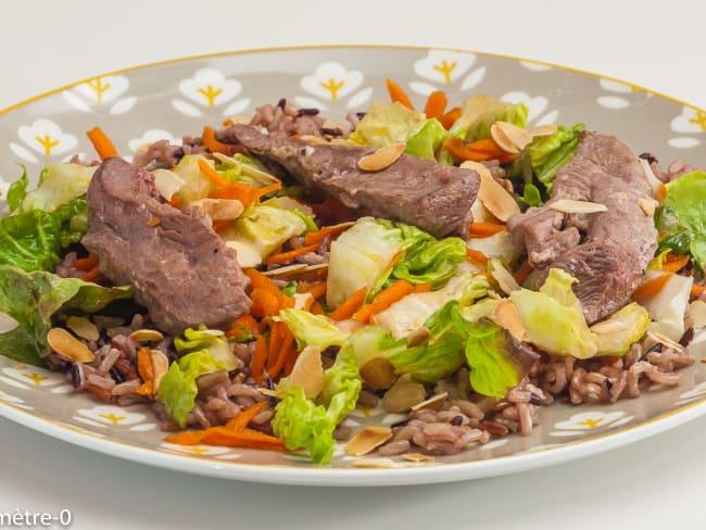 Aiguillettes de canard aux trois riz